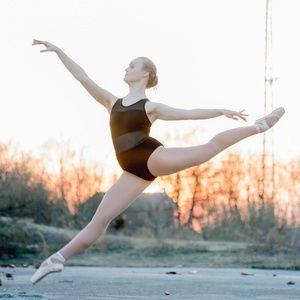 Women's Mesh Halter Ballet Leotard Cotton Bodysuit